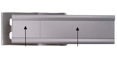 Alumhaus Aufnahmeprofil 110 x 27 mm mit Feder