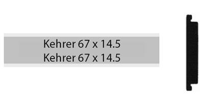 Kehrer 67 x 14.5, zweizeiliges Klingelschild