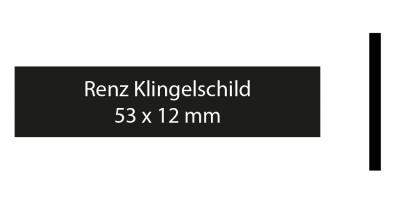 Renz Klingelschild 53 x 12 schwarz