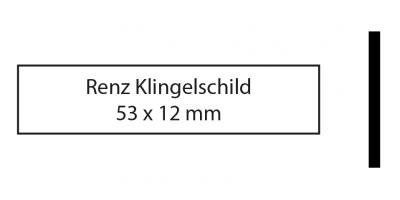 Renz Klingelschild 53 x 12 weiss