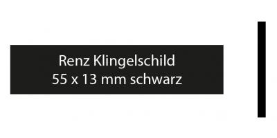 Renz Klingelschild 55 x 13 schwarz