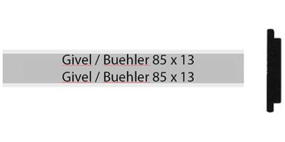 Givel-Bühler 85 x 13, zweizeiliges Briefkastenschild