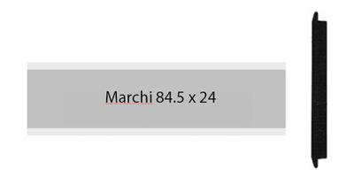 Marchi 84.5 x 24, einzeiliges Briefkastenschild