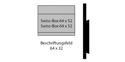 Swiss Box 64 x 32, Briefkastenschild (Swiss-Box Classic)