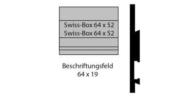 Swiss-Box 64 x 32 Briefkastenschild (Swiss-Box Pub)