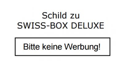 """Schild """"Bitte keine Werbung"""" zu Swiss-Box Briefkastenschild"""