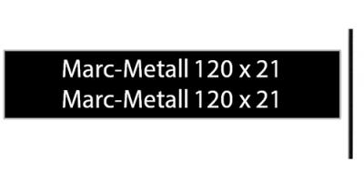 Marcmetall 120 x 21, schwarz, inkl. Gravur Briefkastenschild