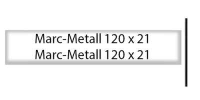 Marcmetall 120 x 21, weiss, inkl. Gravur Briefkastenschild