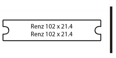 Renz 102 x 21.4 weiss, inkl. Gravur Briefkastenschild