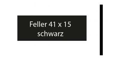 Feller 41 x 15, schwarz, inkl. Gravur Klingelschild