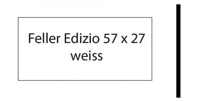 Feller Edizio 57. x 27, weiss, inkl. Gravur Klingelschild