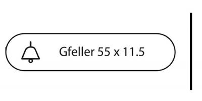 Gfeller 55 x 11.5, m. Klingel, weiss, inkl. Gravur Klingel..