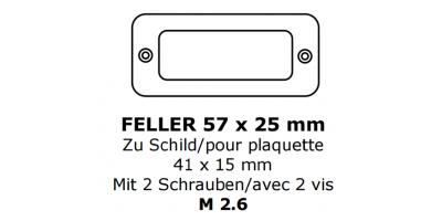Glas zu Feller 41 x 15 (M2.6)