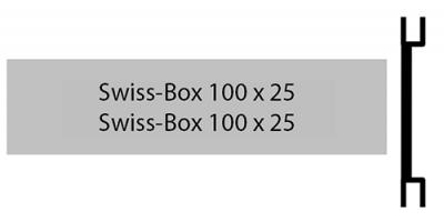 Swiss Box 100 x 25, zweizeiliges Briefkastenschild