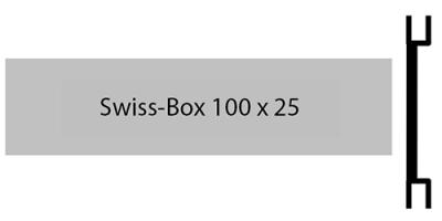 Swiss Box 100 x 25, einzeiliges Briefkastenschild