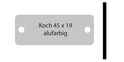 Koch, alufarbig inkl. Gravur  Klingelschild