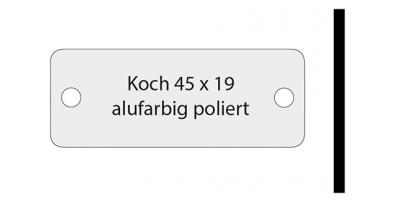 Koch, alufarbig poliert, inkl. Gravur Klingelschild