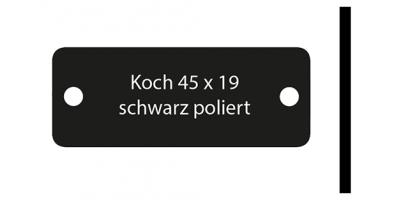 Koch, schwarz poliert, inkl. Gravur Klingelschild