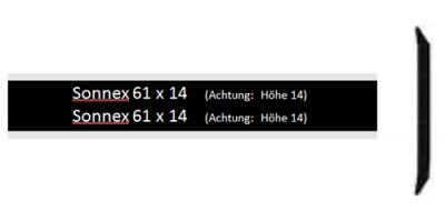 Sonnex 61 x 14, schwarz poliert inkl. Gravur Klingelschild