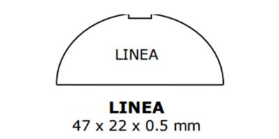 Linea Klingelschild weiss, inkl. Gravur