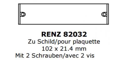 Abdeckung zu Renz Briefkastenschild 102 x 21
