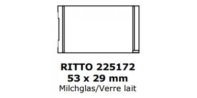 Ritto Klingelschild 53 x 29, milchglas