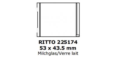 Ritto Klingelschild 53 x 43.5, milchglas