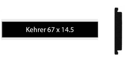 Kehrer 67 x 14.5 schwarz, einzeiliges Klingelschild