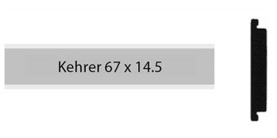Kehrer 67 x 14.5, einzeiliges Klingelschild