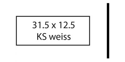 Klingelschild weiss 31.5 x 12.5