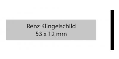 Renz Klingelschild 53 x 12 silber
