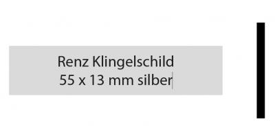 Renz Klingelschild 55 x 13 silber