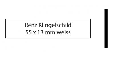 Renz Klingelschild 55 x 13 weiss