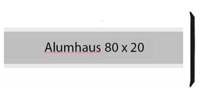Alumhaus 80 x 20, einzeiliges Briefkastenschild