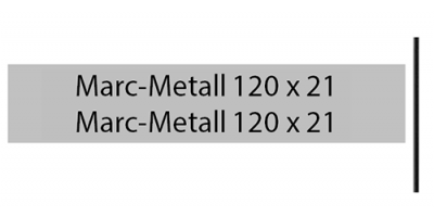 Marcmetall 120 x 21, silber, inkl. Gravur Briefkastenschild