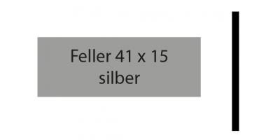 Feller 41 x 15, silber, inkl. Gravur Klingelschild