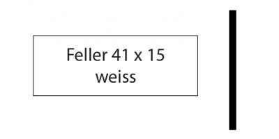 Feller 41 x 15, weiss, inkl. Gravur Klingelschild