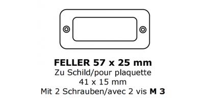 Glas zu Feller 41 x 15 (M3.0)
