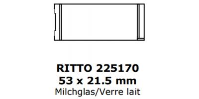 Ritto Klingelschild 53 x 21.5, milchglas
