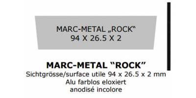 Marc-Metal Rock 94 x 26.5 x 2